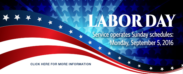 2016 Labor Day Holiday Service