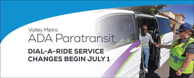 Dial-a-Ride Service changes begin July 1