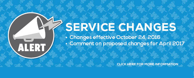 Fall 2016 Service Changes