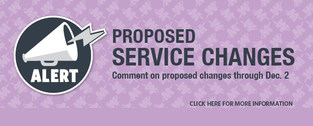 April 2016 Service Change Comments