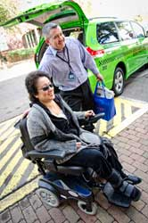 DAR Passenger in wheelchair
