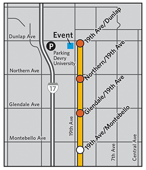 Map to Northwest Extension Opening