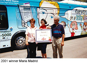 Maria Madrid with parents