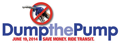 Dump the Pump for Transit on June 19th