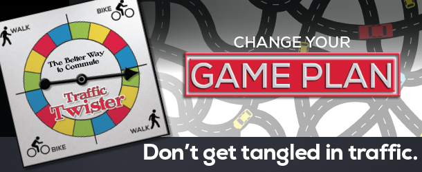 Don't leave your commute to chance. Change your game plan and try taking bus or light rail.