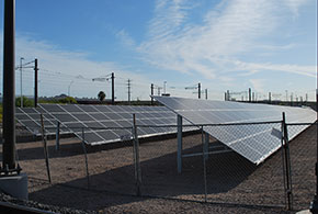 Solar panels at Operations & Maintenance Center