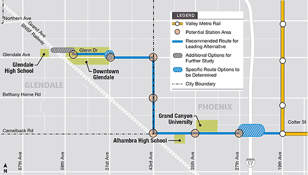 Map of proposed route