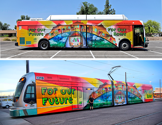2016 bus and light rail transit wrap images