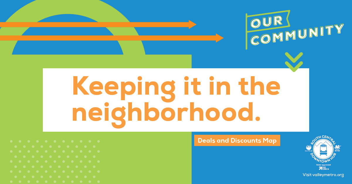 Keeping it in the neighborhood. Deals and discounts map.