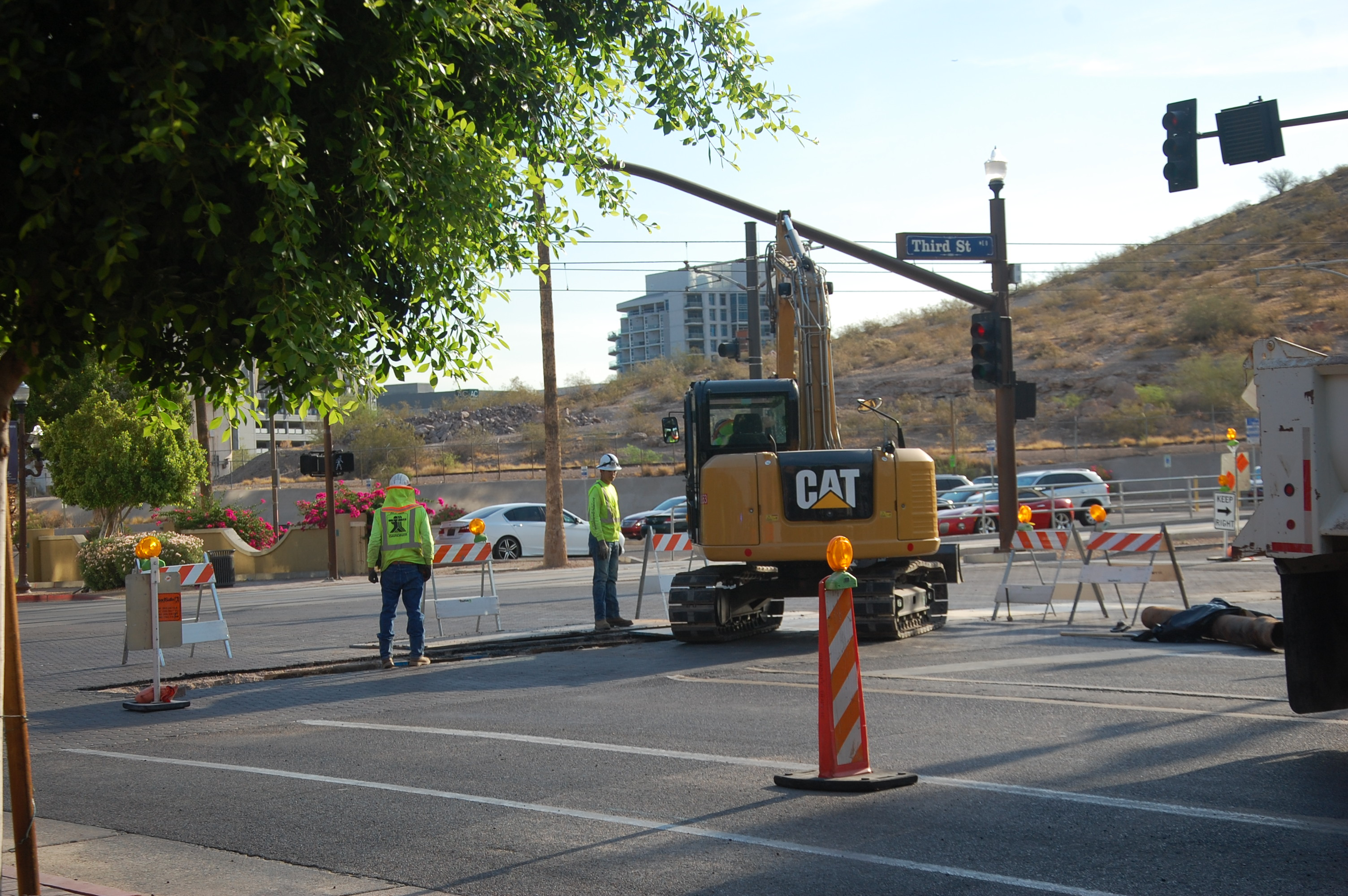 Construction on Tempe Streetcar
