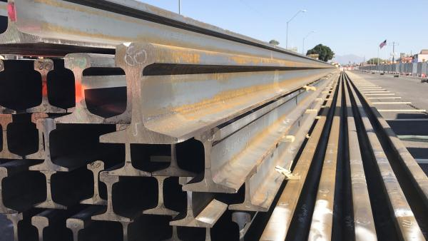 Rail delivered on Gilbert Road Extension