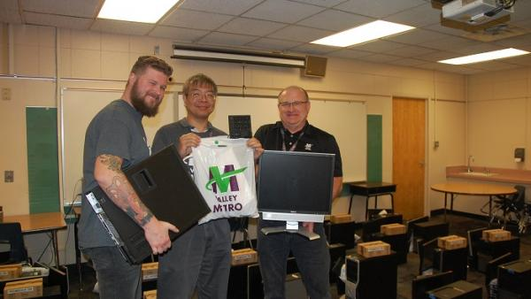 IT team donating computers