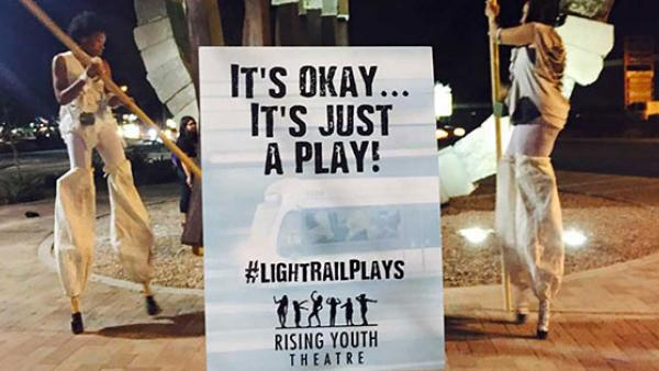 Light Rail Plays Sign