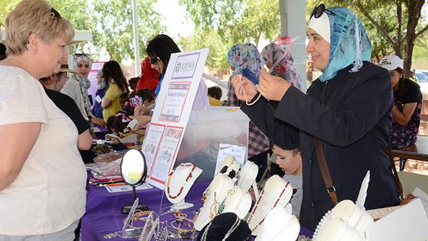 Woman Selling Necklace At World Bazaar Phoenix