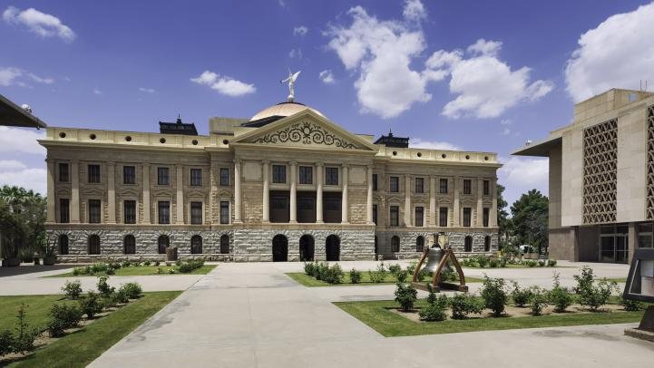 Exterior of Arizona State Capitol.