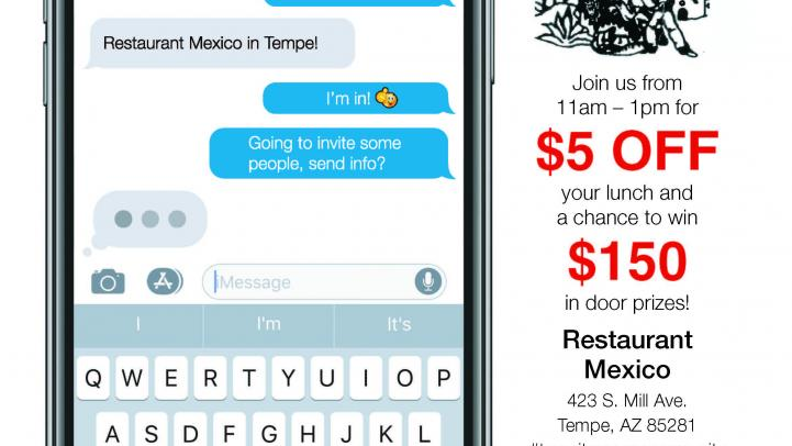 flyer for event at Restaurant Mexico