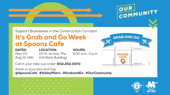 Grab and Go flyer for Spoonz.