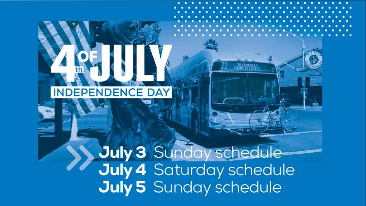 Independence Day Service, Sunday Schedule on Friday, July 3