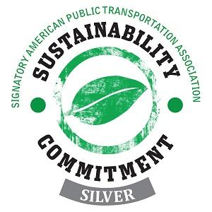 Sustainability Commitment logo.