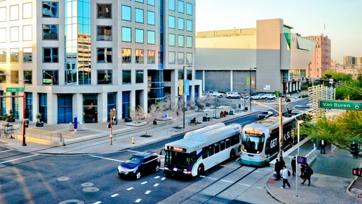 Bus and light rail in Phoenix
