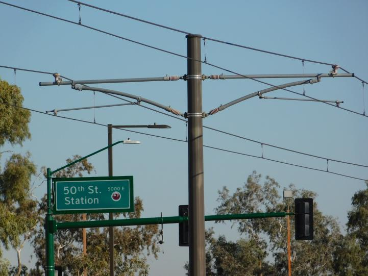 Catenary pole