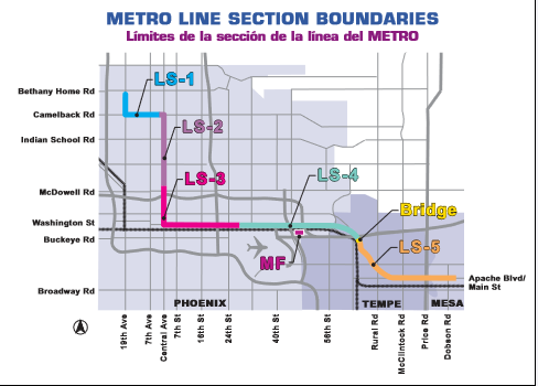 Map of Valley Metro line projects