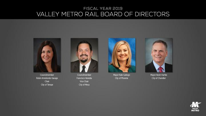 Composite photos of Valley Metro Rail Board members