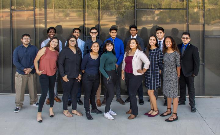Group photo of Valley Metro Rail summer high school interns