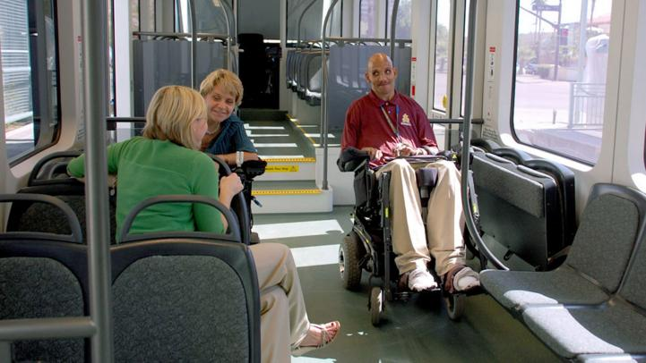 valley metro light rail accommodates ada riders