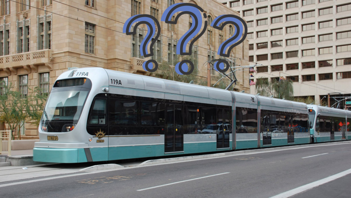 Train with question marks
