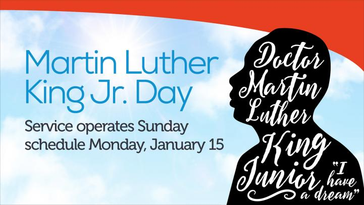 Martin Luther King Jr Day Service Schedule Valley Metro