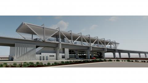Rendering of Metrocenter Station