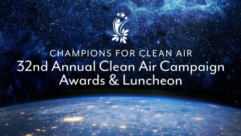 Champions For Clean Air 32nd Annual clean Air Campaign Awards & Luncheon image of earth, stars and space.