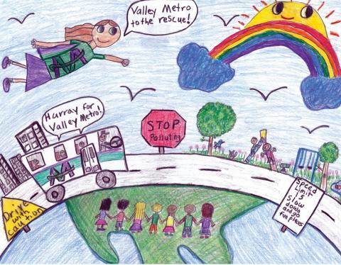 2019 Cool Transit STUFF 3rd Grade Art Contest Cover.