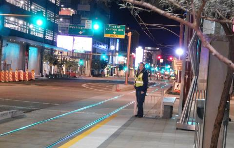 Light rail field supervisor Chris