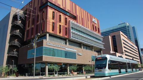 Valley Metro Rail at the ASU Downtown Walter Cronkite School of Journalism