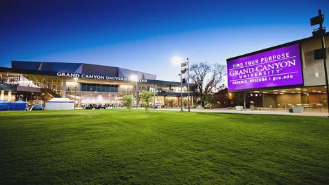 Exterior of Grand Canyon University.