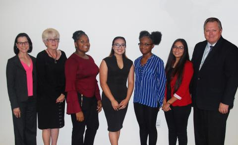 South Central Extension interns at board meeting