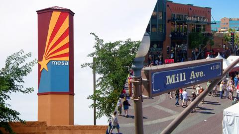 Collage of Mesa and Tempe.