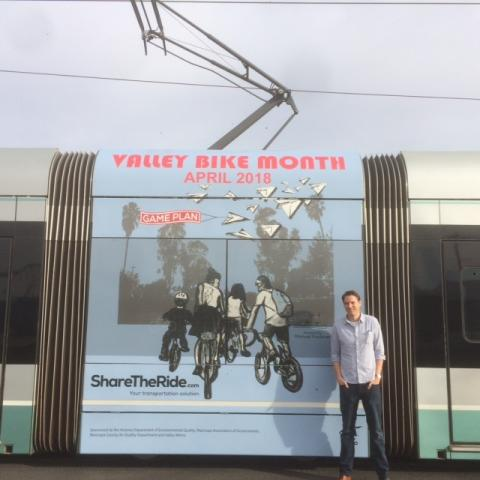 valley bike month train wrap
