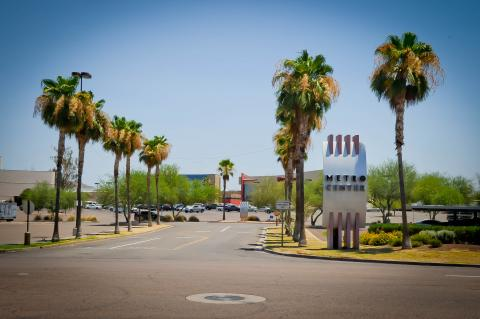 entrance to Metrocenter Mall parking lot