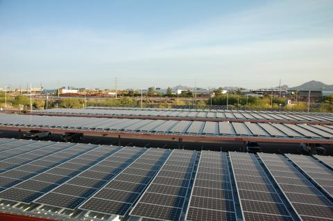 Solar Panels at the Operations and Maintenance Center