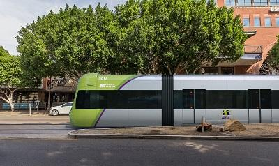 Rendering of Tempe Streetcar vehicle.