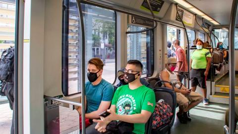 Passengers are asked to utilize face coverings when riding with Valley Metro