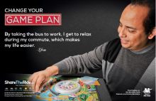 change your game plan bus poster