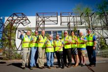 Group shot at the Gilbert Road Extension groundbreaking event