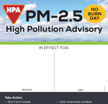 """""""PM-2.5 HPA Notice"""" Dry Erase Poster thumbnail"""
