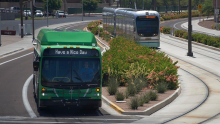 bus and train in Tempe